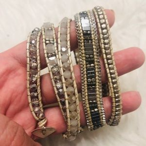 Nakamol Gold and Silver Wrap Bracelet